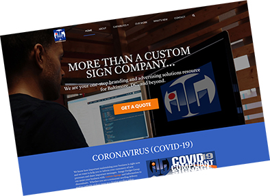 New Image Design Group website| customn signs, banners, vehicle wraps, band merch, and more