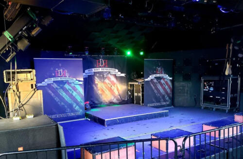 Band Merchandise and stage graphics